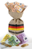Zak met euro geld Royalty-vrije Stock Foto