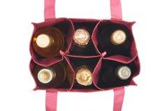 Zak met flessen stock afbeelding