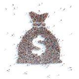 Zak met geld stock illustratie