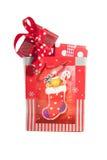 Zak met Kerstmisgiften Royalty-vrije Stock Afbeeldingen