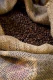 Zak met koffie Royalty-vrije Stock Fotografie