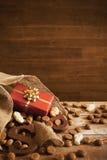 Zak met traktaties, voor Nederlandse vakantie 'Sinterklaas' Royalty-vrije Stock Afbeelding
