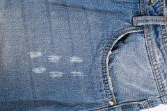 Zak op jeans stock afbeelding