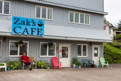 The Zak`s Cafe at Front Street, Wrangell. Royalty Free Stock Photos