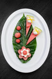 Zakąska arbuz z ricotta Zdjęcie Royalty Free