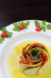 Zakąska zucchini i pomidory fotografia stock