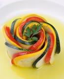 Zakąska zucchini i pomidory obrazy royalty free
