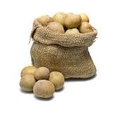 Zak van aardappels Royalty-vrije Stock Foto's