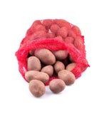 Zak van aardappels Stock Foto's