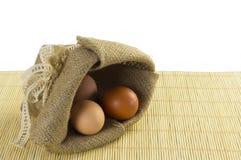 Zak van eieren Stock Afbeelding