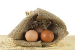 Zak van eieren Royalty-vrije Stock Afbeelding