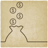 Zak van geldsymbool Stock Afbeeldingen