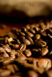 Zak van koffie-bonen Stock Fotografie