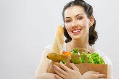 Zak voedsel royalty-vrije stock foto