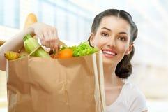 Zak voedsel Stock Foto