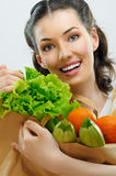 Zak voedsel Stock Foto's