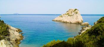 Zakamica beach and Kamik cliff Royalty Free Stock Image