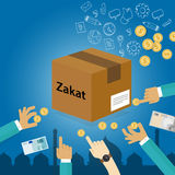 Zakat giving money to the poor islam concept religious tax charity Royalty Free Stock Photo