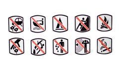 zakaz kultywacja brygadowa płonąca gasi pożarniczych strażaków otwartego prohibici gnania znaka drewno Obraz Royalty Free