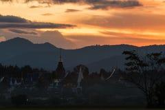 Zakaz meliny świątynia z zmierzchu światłem Obrazy Royalty Free