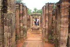 Zakaz Teay Świątynny Siem Przeprowadza żniwa Kambodża Zdjęcie Stock