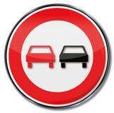 zakaz wyprzedzania ilustracja wektor