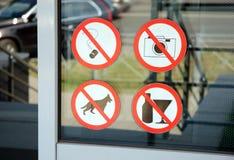 zakazać znaków Fotografia Royalty Free
