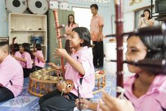 Zakazu Nong Bua Tai szkoła, Mae pijus, Tak, Tajlandia Luty, 21 2013 Zdjęcia Stock