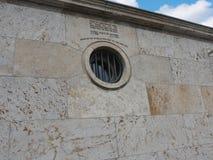 Zakazujący windoww blisko terenoznawstwa terroru muzeum w Berlińskiej Niemcy Berlińskiej stolicie Niemcy obraz stock