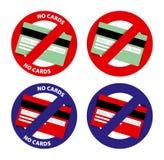 Zakazująca kredytowa karta ilustracja wektor