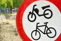Zakazujący dla rowerów Obraz Royalty Free