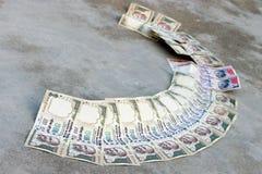 Zakazuje na Rs 500, Rs czarny pieniądze, 1000 notatek są chirurgicznie strajkiem na terroru finansowaniu Fotografia Stock