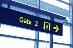 Zakazuje podpisuje wewnątrz lotnisko Obraz Royalty Free