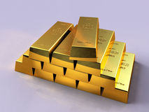 zakazuje się złoto Zdjęcia Stock