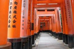 zakazuje torii Fushimi Inari świątynia Fushimi Inari Taisha kyoto Japonia Zdjęcie Royalty Free