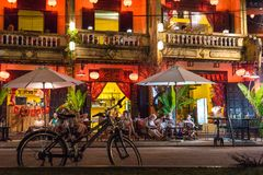Zakazuje w Hoi nightlife obrazy royalty free