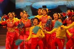 Zakdoek dans-2007 Jiangxi-het Feest van het de Lentefestival Stock Afbeeldingen