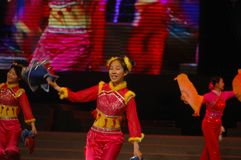Zakdoek dans-2007 Jiangxi-het Feest van het de Lentefestival Stock Afbeelding