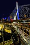 Zakem-Brücke nachts Lizenzfreies Stockfoto