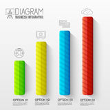 Zaken abstracte 3D digitale Infographic Stock Foto's