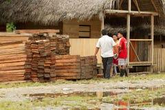 Zaken in Amazonië Stock Foto's