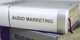Zaken - Boektitel Audio Marketing 3d Royalty-vrije Stock Foto