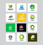 Zaken Collectief Logo Set Royalty-vrije Stock Foto's
