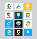 Zaken Collectief Logo Set Stock Afbeelding