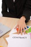 Zaken conctract Stock Foto's