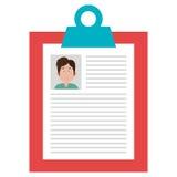Zaken cv met mannelijk photograpy ontwerp Stock Fotografie