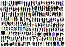 Zaken, de silhouetten van de manierverscheidenheid Royalty-vrije Stock Fotografie