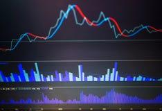 Zaken die financiële die statistieken analyseren op het scherm worden getoond royalty-vrije stock foto