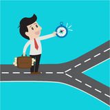 Zaken die kompas gebruiken die manier kiezen aan succes stock illustratie