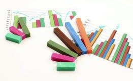 Zaken die op grafiek worden gelanceerd Stock Foto